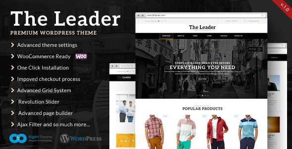 ThemeForest The Leader Ecommerce Responsive M-Purpose Theme 5493981