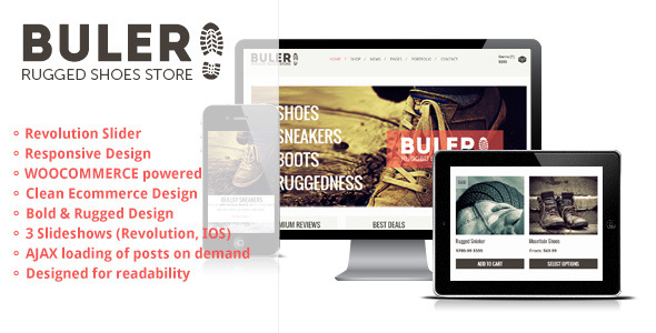 Buler - A Rugged Ecommerce / WooCommerce Theme