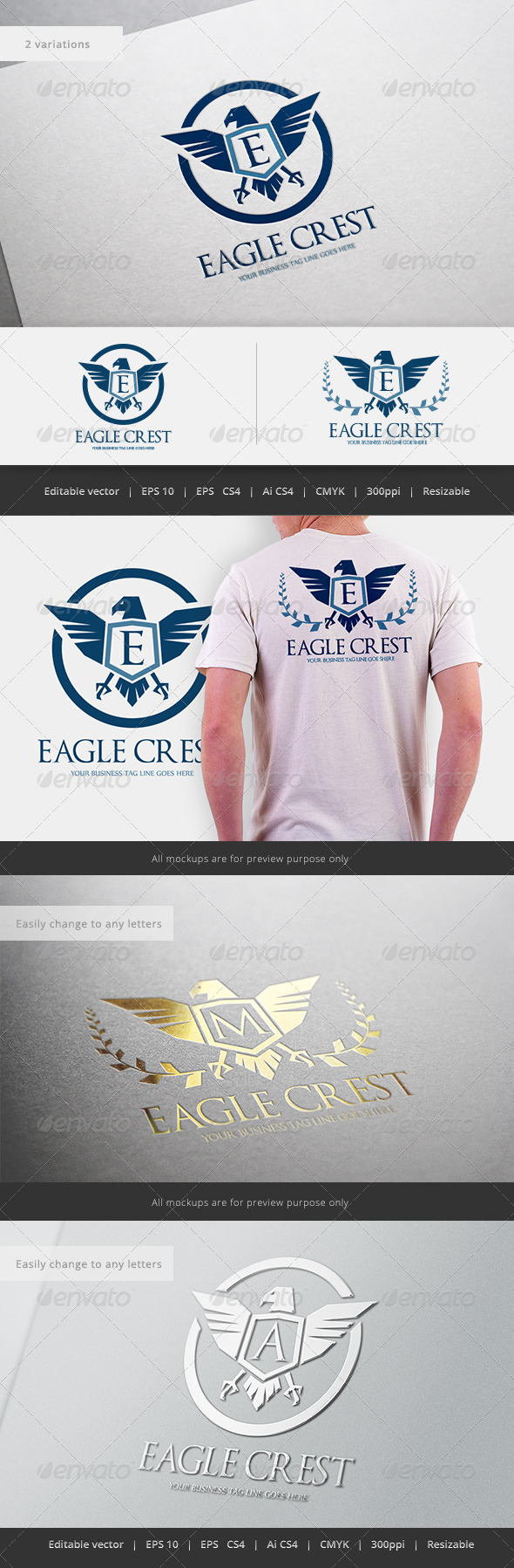 GraphicRiver Eagle Crest Logo 5531756