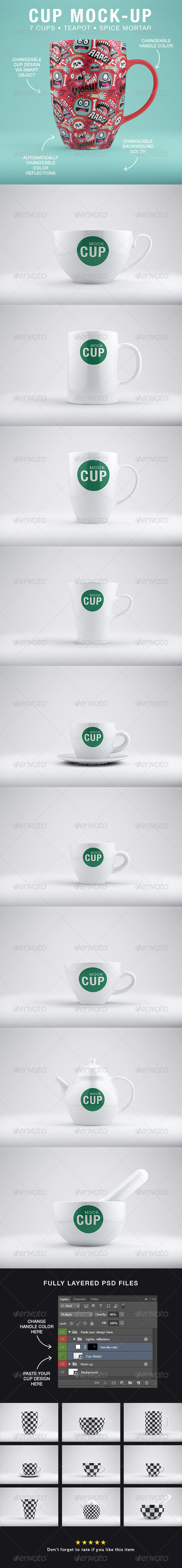 Cup Mock-Up's - Product Mock-Ups Graphics