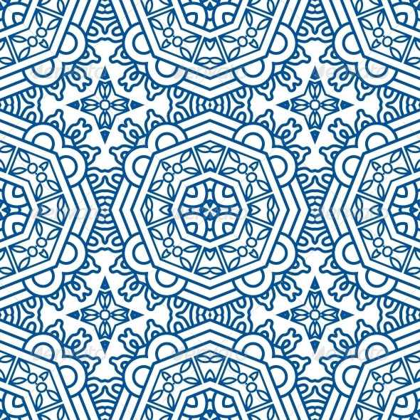 GraphicRiver Seamless Blue Retro Pattern Background 5531799
