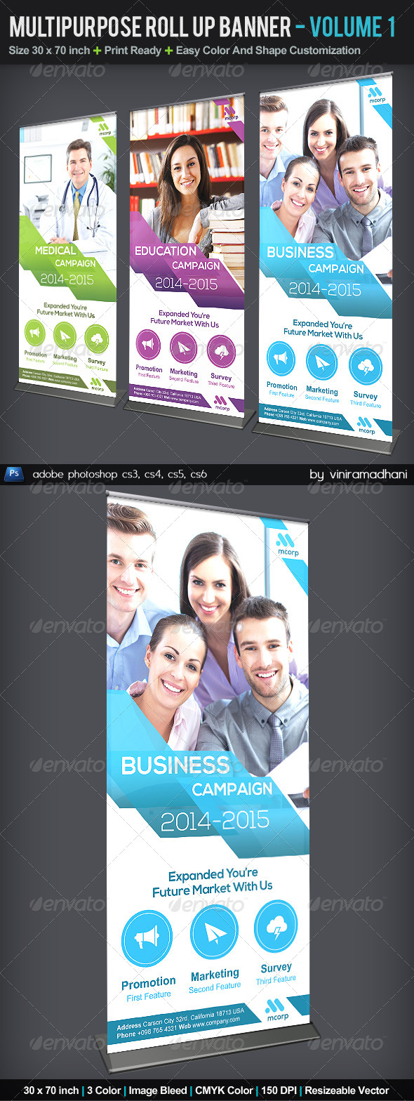 GraphicRiver Multipurpose Roll Up Banner Volume 1 5532128