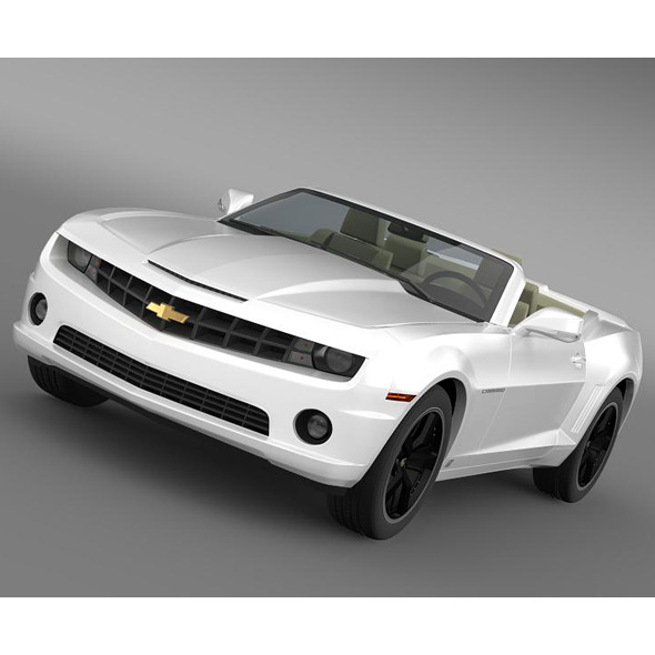 Chevrolet Camaro EUVersion 2012 Convertible - 3DOcean Item for Sale