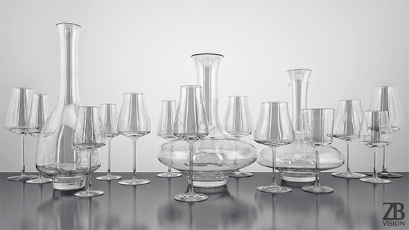 Zwiesel Wine Classics Glassware Collection - 3DOcean Item for Sale
