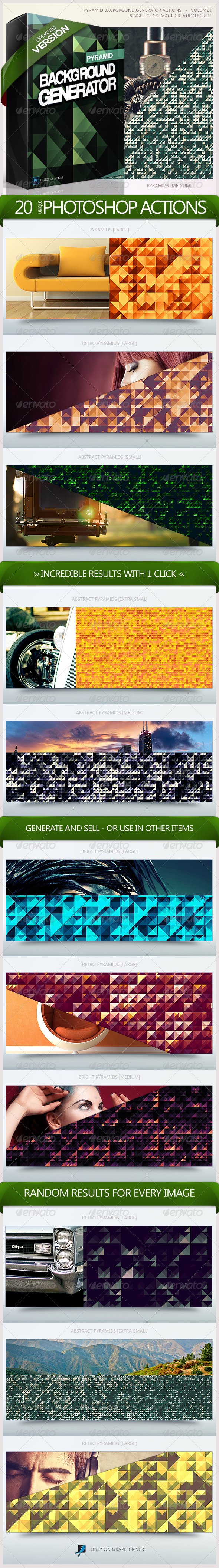 Pyramid Backgrounds Generator Actions - Add-ons