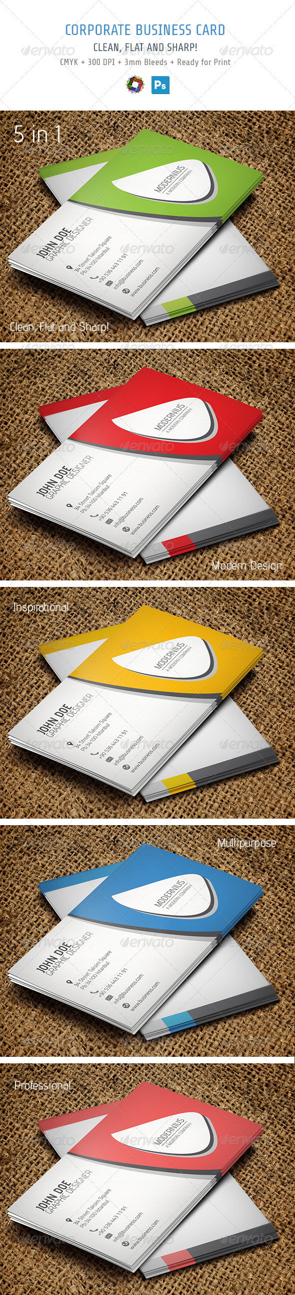GraphicRiver Business Card 5532669