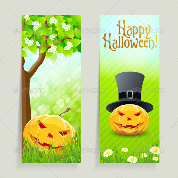 GraphicRiver Set of Halloween Banners 5532742