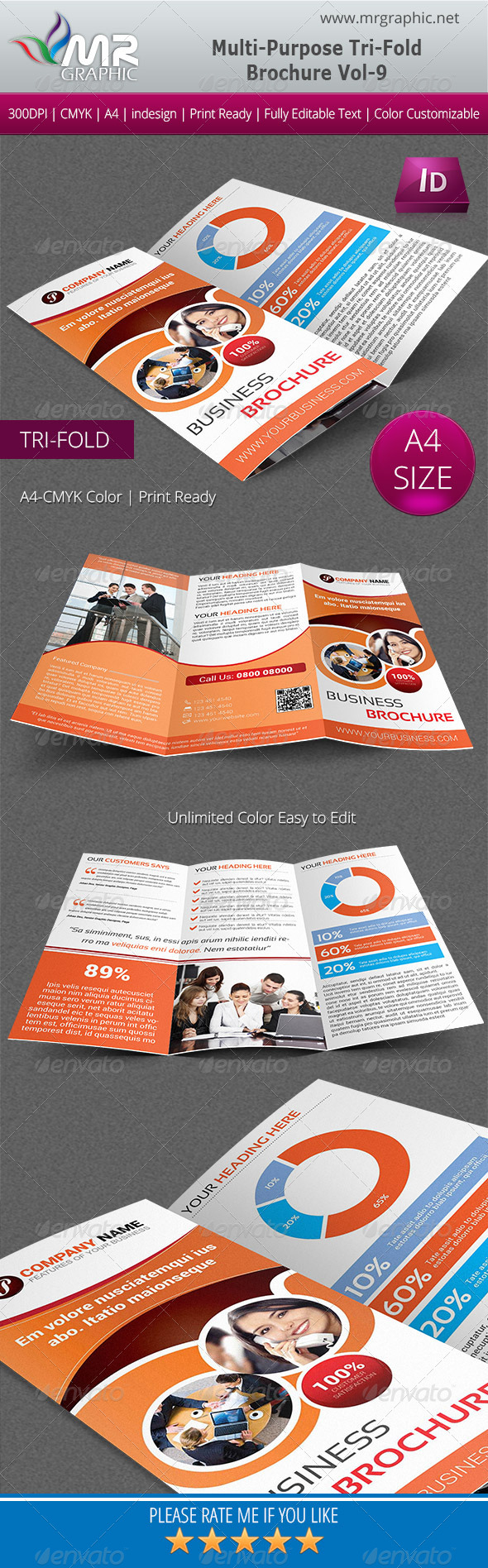 GraphicRiver Multipurpose Business Tri-Fold Brochure Vol-09 5532796