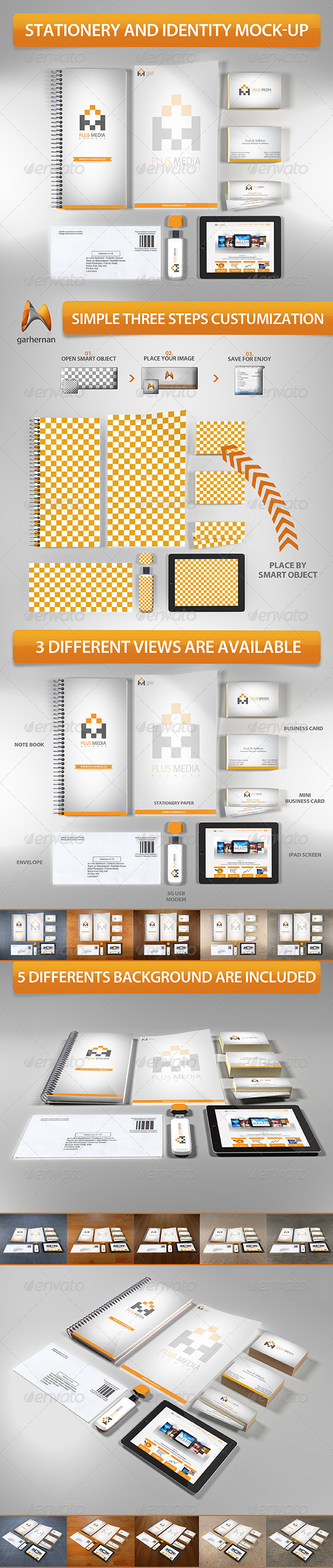 GraphicRiver Stationery and Identity Mock-Up 5532873