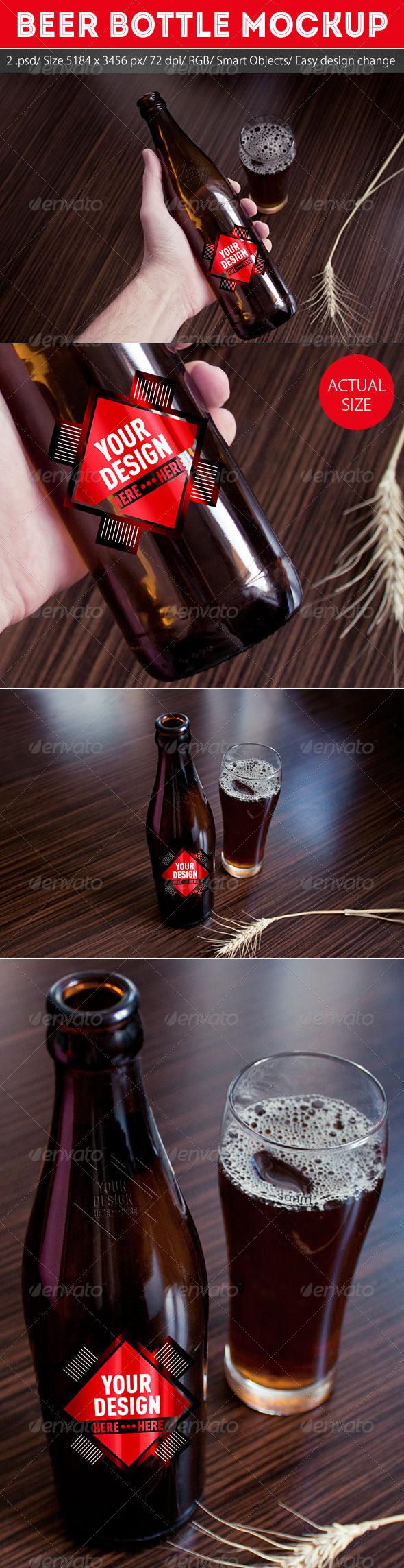 GraphicRiver Grapulo s Beer Bottle Mockup 5532875