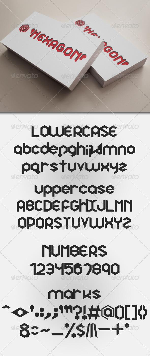 GraphicRiver Hexagon Premium Font 5533132
