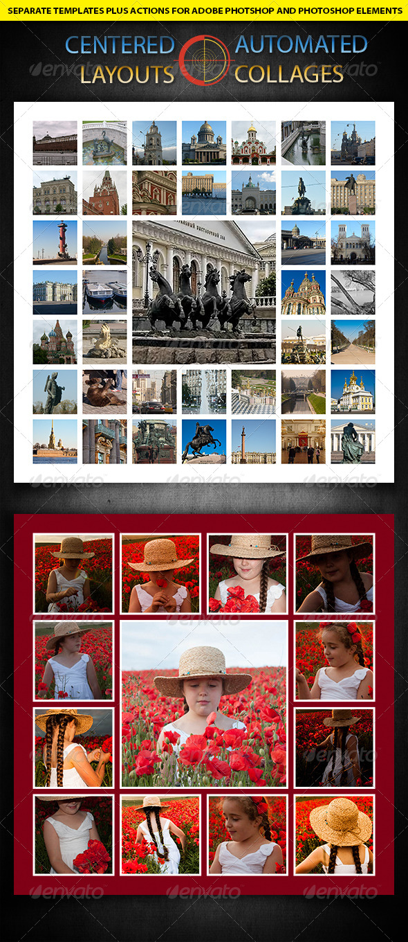 GraphicRiver Centered Photocollages Automated Templates 5533346