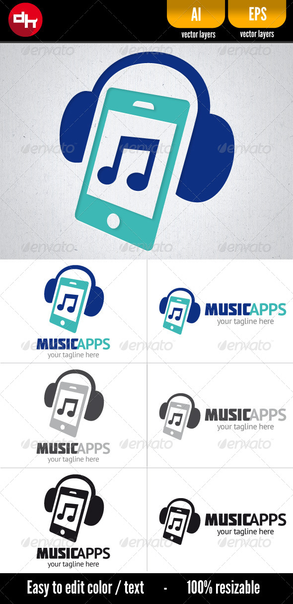 GraphicRiver Music Apps 5533484
