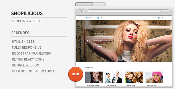 ThemeForest Shopilicious HTML Shopping Website 5533868