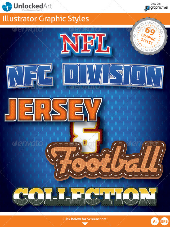GraphicRiver NFL NFC Division Graphic Styles 5534726