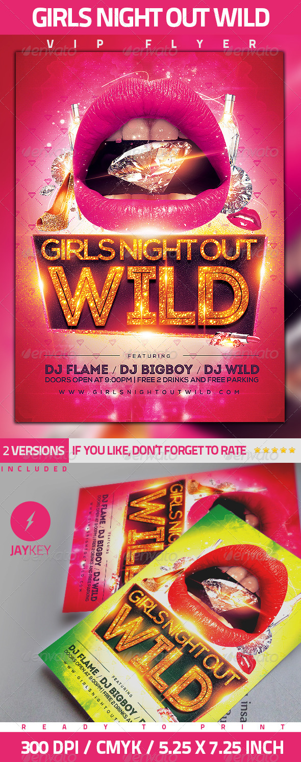 GraphicRiver Girls Night Party Flyer 5534753