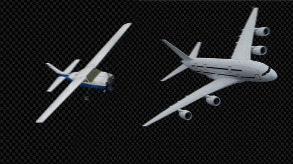 VideoHive Transition Footage of 2 Airplanes 5500309
