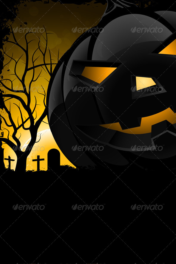 GraphicRiver Grunge Background for Halloween Party 5535448