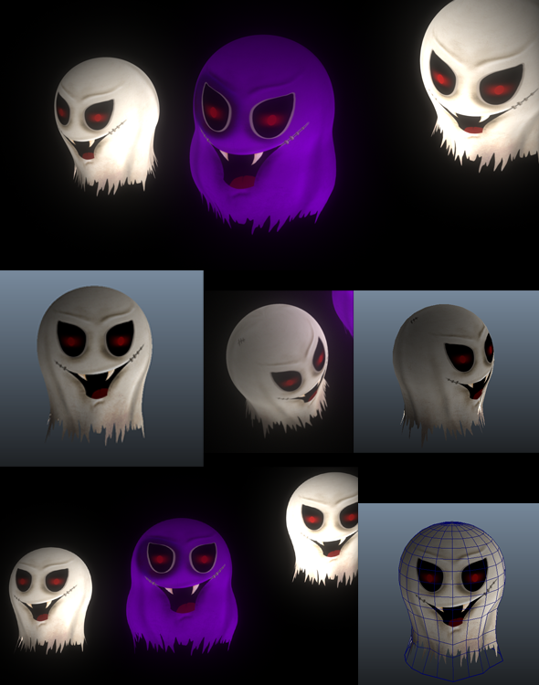 3DOcean Low Poly Ghost Maya 3D 5535499