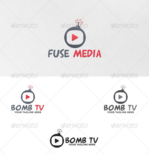 Bomb TV Logo Template