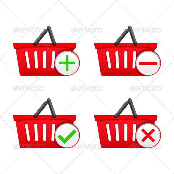 GraphicRiver Shopping Basket Icons 5535893