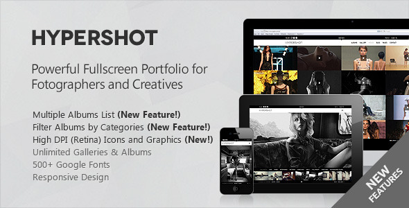 Hypershot Photography Portfolio WordPress Theme