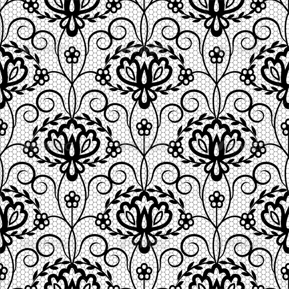 GraphicRiver Seamless Lace Floral Pattern 5536993