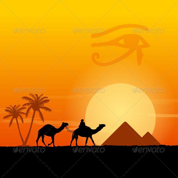 GraphicRiver Egypt Symbols and Pyramids 5536999
