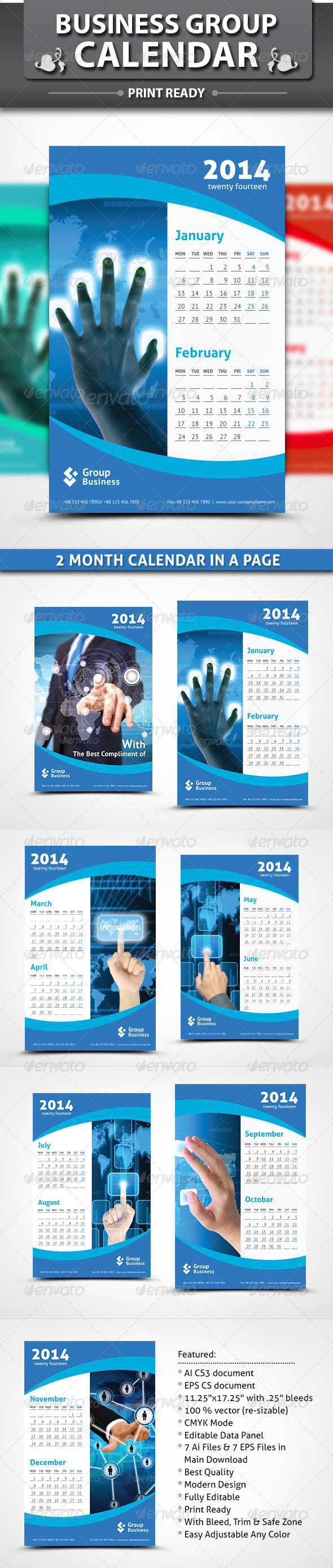 GraphicRiver Group Business Calendar 5537700