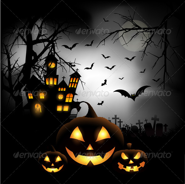 GraphicRiver Halloween Background 5537944