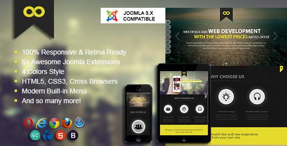 One - Joomla 3 Onepage Portfolio Template