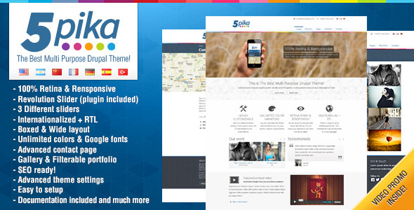 Image of 5pika - Drupal Theme