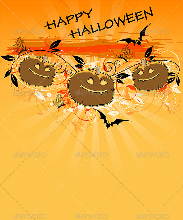 GraphicRiver Background with Pumpkins 5538525