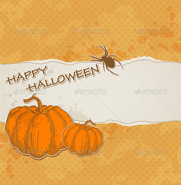 GraphicRiver Halloween Background with Torn Paper 5538750