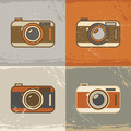 Grunge retro camera icons - PhotoDune Item for Sale