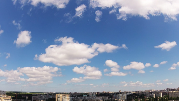 VideoHive Quick Clouds Over The City Time Lapse 5538779