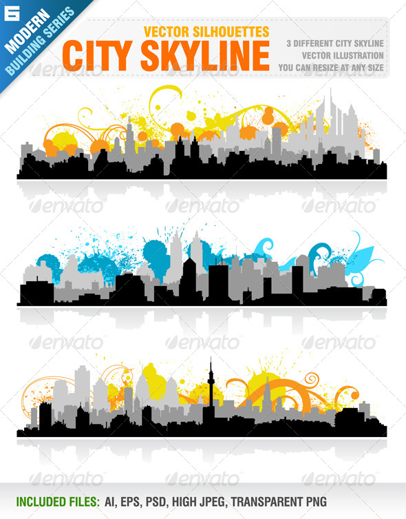 GraphicRiver City Skyline 5538820
