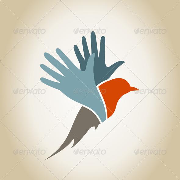 GraphicRiver Bird a Hand 5538845