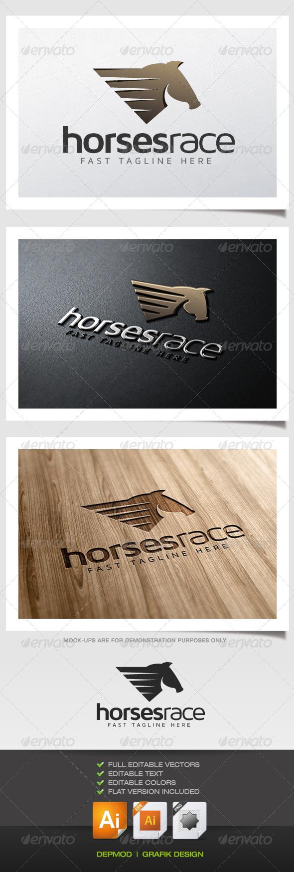 Horses Race Logo