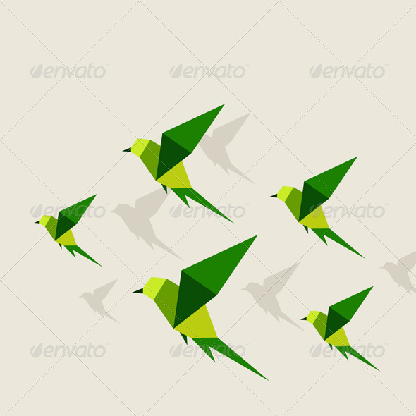 GraphicRiver Bird Abstraction 2 5538853