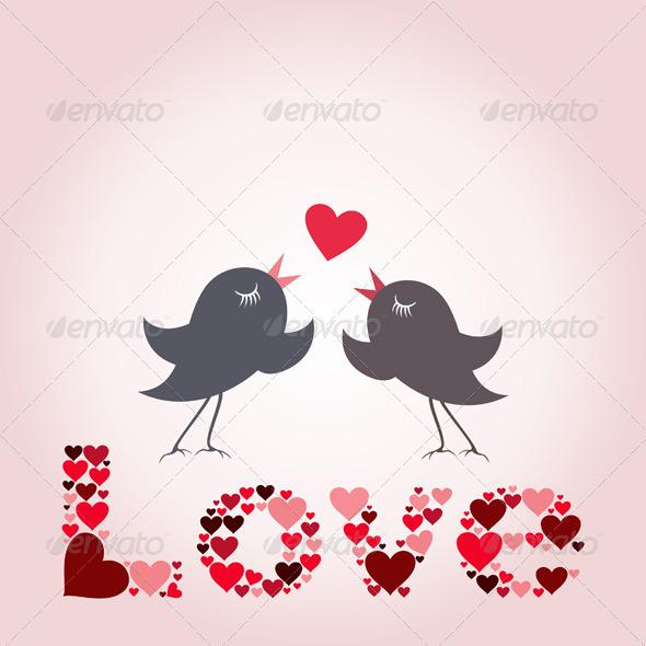 GraphicRiver Bird of Love 8 5538863