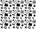 Seamless Black and White Cinema Pattern - PhotoDune Item for Sale