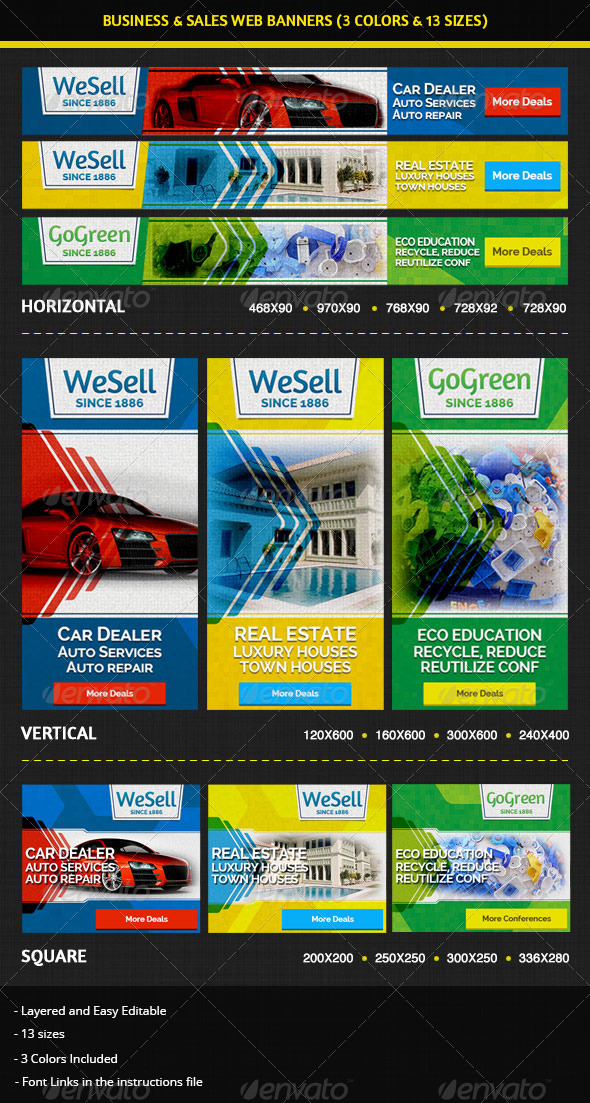 GraphicRiver Sales & Services Business Web Banners 5539616