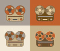 Retro Reel Recorder Icons - PhotoDune Item for Sale