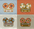Grunge Retro Reel Recorder Icons - PhotoDune Item for Sale