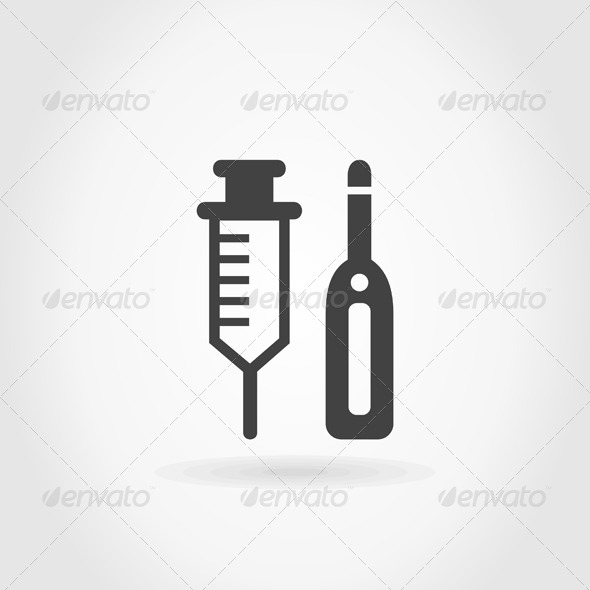 GraphicRiver Syringe and Thermometer 5540041