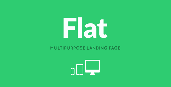 ThemeForest FLAT Responsive Multipurpose Landing Page 5540051