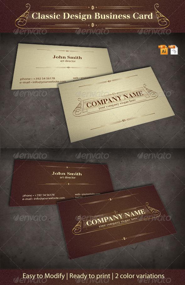 Classic Design Business Card : GraphicRiver