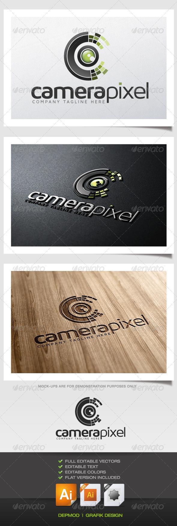 Camera Pixel V.02 - Symbols Logo Templates