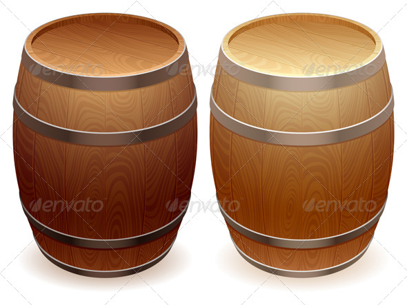 GraphicRiver Wooden Barrels 5540522
